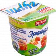 Продукт йогуртный «Эрмигурт» легкий, клубника-земляника, 0.3%, 100 г.