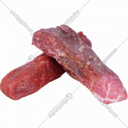 Продукт из говядины сырокопчёный «Палочки к пиву ароматные» 1 кг., фасовка 0.1-0.34 кг