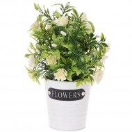 Цветок искусственный в кашпо, 25 см.