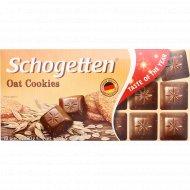 Шоколад молочный «Schogetten» oat cookies, 100 г.