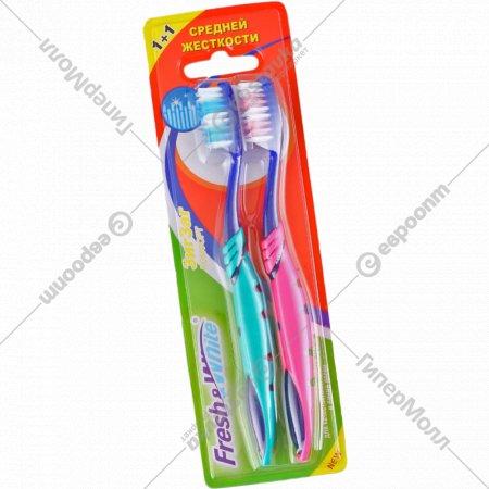 Зубная щетка «Zigzag Comfort» 1+1, средней жесткости.