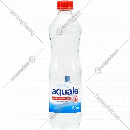 Вода питьевая «Aquale» березинская газированная, 0.5 л.