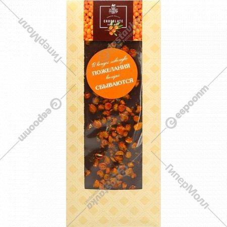 Шоколад темный «Hand-made» с облепихой, 100 г.