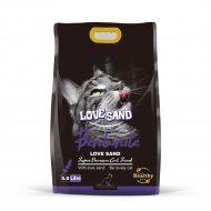 Наполнитель бентонитовый «Love Sand» с ароматом лаванды, 5 л.
