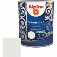 Эмаль «Alpina» Ral9003, по ржавчине, 3 в 1, белая, 2.5 л