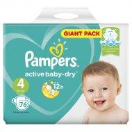 Подгузники «Pampers» Active Baby-Dry 8-14 кг, 4 размер, 76 шт.