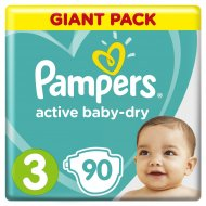 Подгузники «Pampers» Active Baby Dry, 6-10 кг, 3 размер, 90 шт.