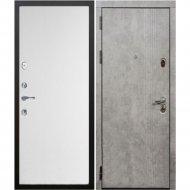Дверь входная «Staller» Бетолла, Бетон графит/Монблан, L, 205х96 см