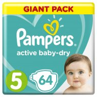 Подгузники «Pampers» Active Baby Dry, 11-16 кг, 5 размер, 64 шт.