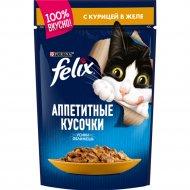 Корм для кошек «Felix» с курицей, 85 г.