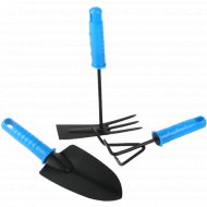 Набор инструментов для огорода с ручками, 3 шт, 23 см.