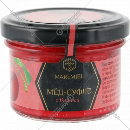Мед-суфле «Maremiel» с вишней, 100 г