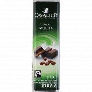 Шоколад горький «Cavalier» c кофе и стевией, 40 г.