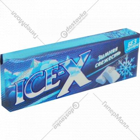 Жевательная резинка «Ice-X» зимняя свежесть.
