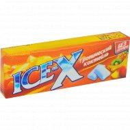 Жевательная резинка «Ice-X» тропический коктейль, 30 г.