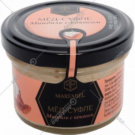 Мёд-суфле «Maremiel» миндаль с кокосом, 120 г.