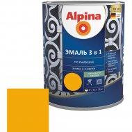 Эмаль «Alpina» Ral1021, по ржавчине, 3 в 1, желтая, 2.5 л