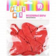 Воздушные шары сердечки красные 10 шт.