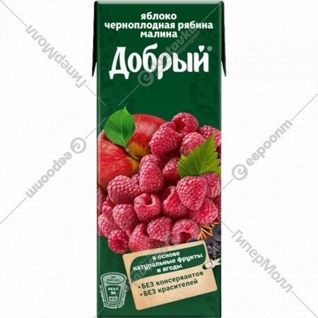 Нектар «Добрый» яблоко, черноплодная рябина, малина, 200 мл.