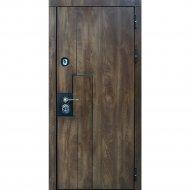 Дверь входная «Staller» Крона, Дуб коньяк, L, 205х86 см