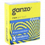 Презервативы «Ganzo» классик, 3 шт.