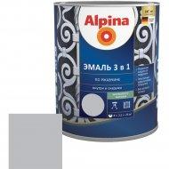 Эмаль «Alpina» Ral7040, по ржавчине, 3 в 1, серая, 0.75 л