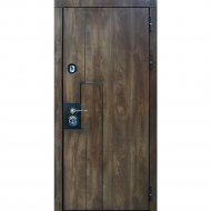 Дверь входная «Staller» Крона, Дуб коньяк, R, 205х96 см