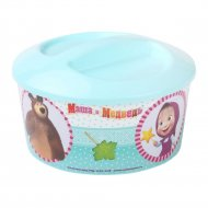 Шкатулка игрушечная «Маша и Медведь» круглая.