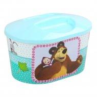 Шкатулка игрушечная «Маша и Медведь» овальная.