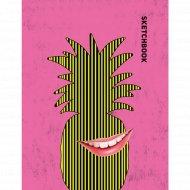 Книга-скетчбук «Ананас».