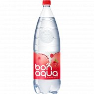Вода питьевая, газированная «Bonaqua» малина, 2 л.