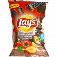 Чипсы «Lays» томаты с нотками ароматных пряностей, 140 г.
