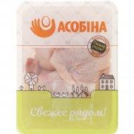 Бедро цыпленка-бройлера «Асобiна» охлажденное, 1 кг., фасовка 0.9-1.4 кг