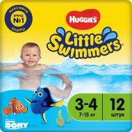 Трусики-подгузники «Huggies» Little Swimmers, размер 5-6, 7-15 кг, 12 шт