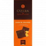 Шоколад горький «O'zera» с апельсиновым маслом, 90 г.