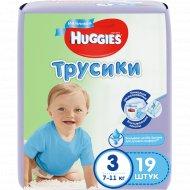 Трусики-подгузники для мальчика «Huggies» Conv 3, 7-11 кг, 19 шт.