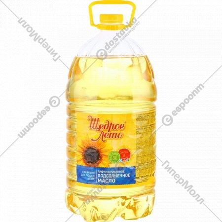 Масло подсолнечное «Щедрое лето» рафинированное, 5 л.