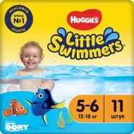 Трусики-подгузники «Huggies» Little Swimmers, размер 5-6, 12-18 кг, 11 шт