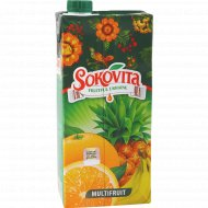 Напиток сокосодержащий «Sokovita» мультифруктовый, 0.95 л.