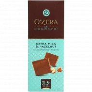 Шоколад молочный «O'zera» с фундуком, 90 г.