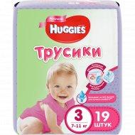 Трусики-подгузники для девочки «Huggies» Conv 3, 7-11 кг, 19 шт.