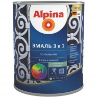 Эмаль «Alpina» Direkt auf Rost, Ral1021, желтая, 0.75 л