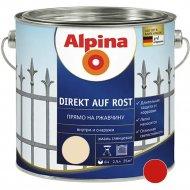 Эмаль «Alpina» Direkt auf Rost, Ral3000, красная, 2.5 л