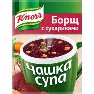 Суп «Knorr» борщ с сухариками, 14.8 г.