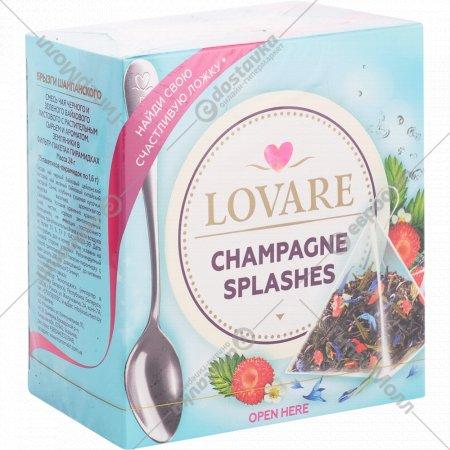 Чай черный и зеленый «Lovare» Champagne Splashes, 24 г.