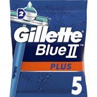 Одноразовые мужские бритвы «Gillette» Blue II Plus, 5шт.