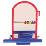 Игрушка для птиц «Зеркальце и счёты» 8 см.