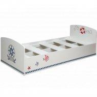 Кровать «Олмеко» Лего - 2, Кораблик, белый, 85 см