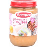Пюре «Semper» картофельное рагу с говядиной, 190 г.