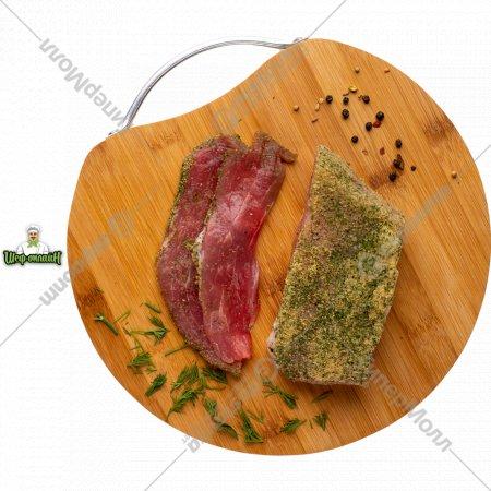 Продукт мясной из свинины «Окорок от шефа» соленый, в вакууме, 1/300 .
